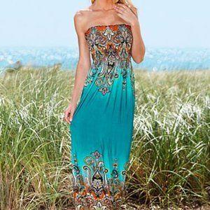 NWOT Venus Strapless Maxi Dress
